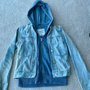Abercrombie and Fitch Sweater Jean Jacket
